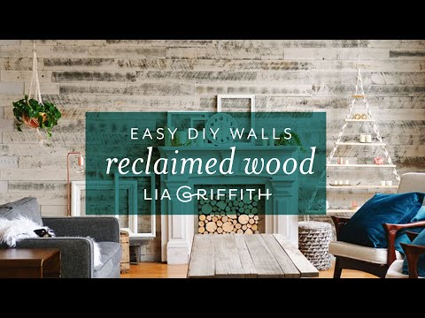 DIY Wood Panel Wall with Stikwood