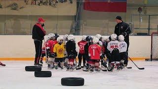 Сделано в Кузбассе HD: Тренировка юных хоккеистов и матч мастеров