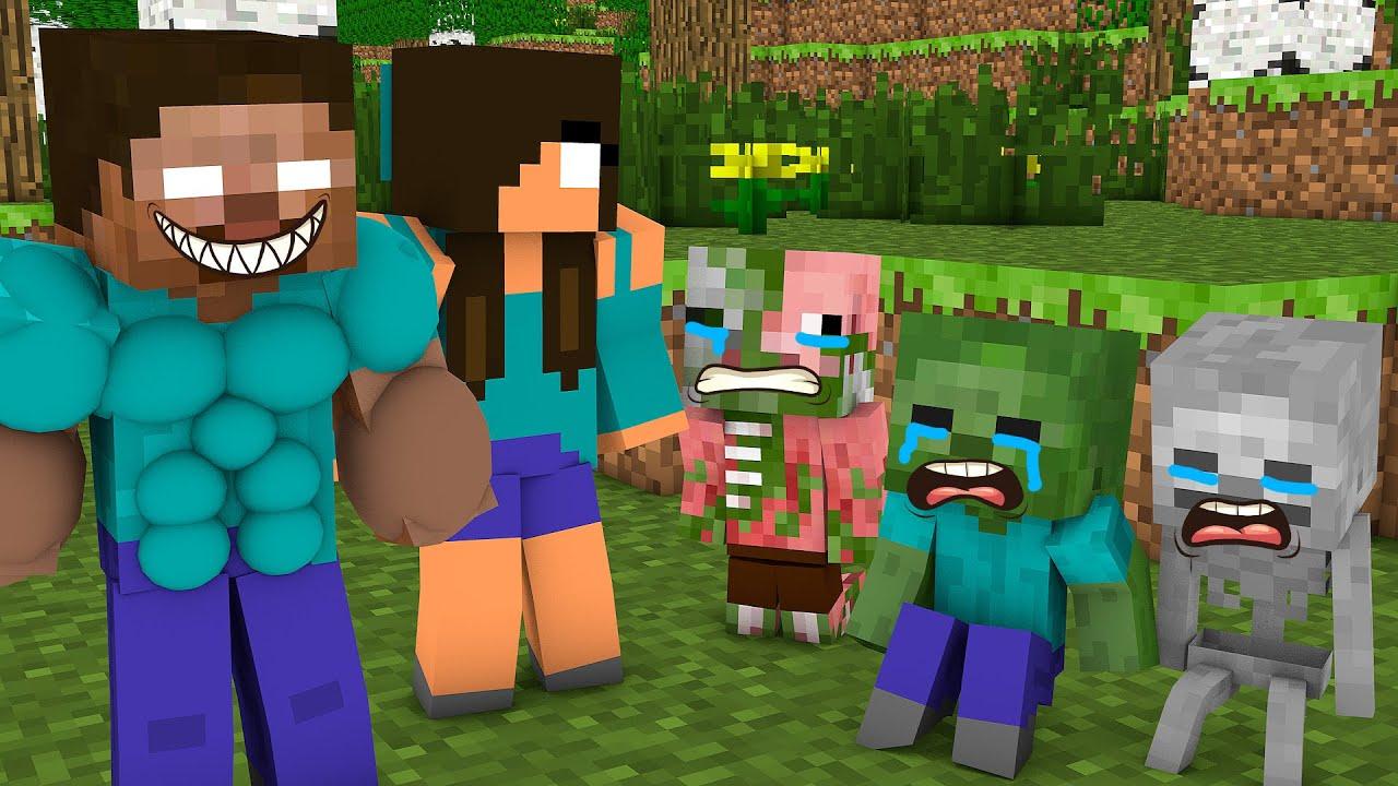 Monster School : NAUGHTY BABIES CHALLENGE - Minecraft Animation