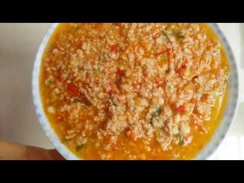 cách làm thịt băm sốt cà chua thơm ngon.