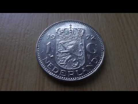 1 Dutch guilder coin of Nederland from 1972 in HD