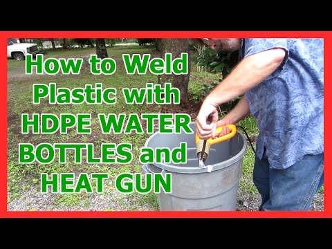 How To Weld Plastic With Hdpe Water Bo Es And Heat Gun