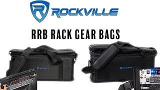 Rockville RRB30 & RRB40 Space Bag-Style Rack Case with Removable Rack+Shoulder Strap