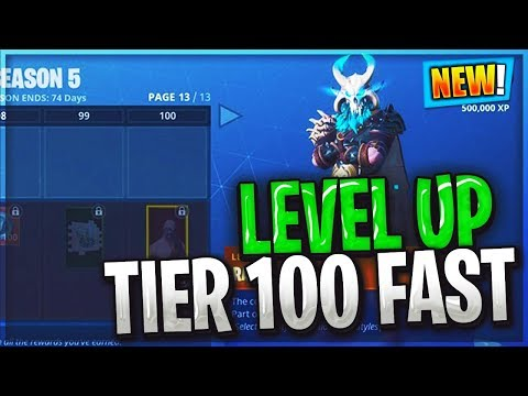 HOW TO LEVEL UP FAST TO MAX TIER 100 IN SEASON 5 BATTLEPASS (Fortnite Battle Royale)