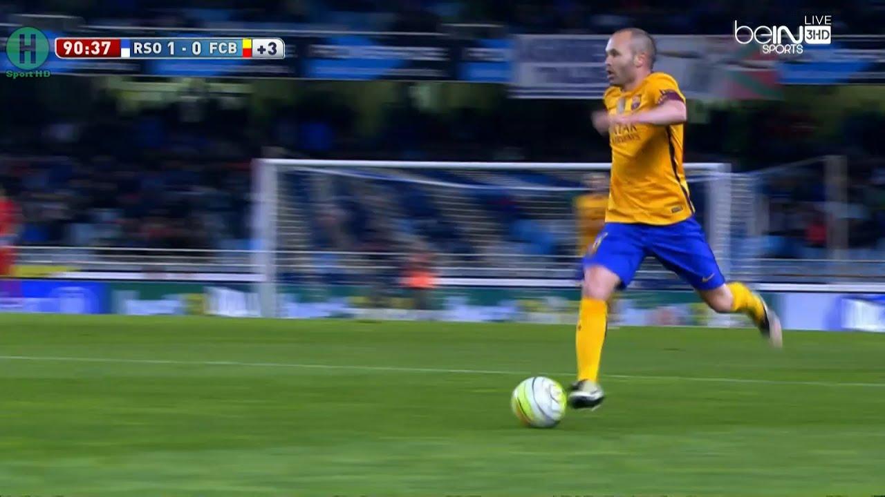ملخص مبارة ريال سوسييداد و برشلونة 10 الدوري الإسباني 9