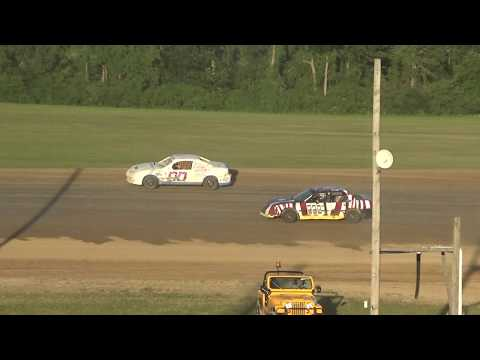 Flinn Stock Heat Race #1 at Crystal Motor Speedway on 07-07-2018