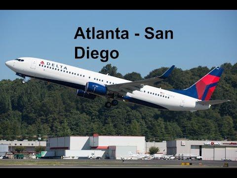 Delta Boeing 737-900ER Flight Experience: Atlanta to San Diego