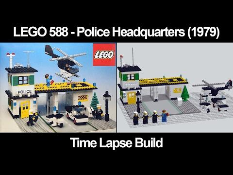 LEGO 588 - Police Headquarters (1979) - Time Lapse Build