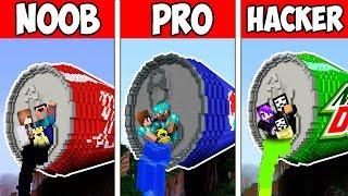 Minecraft NOOB vs PRO vs HACKER : FAMILY FIZZY DRINK BATTLE in Minecraft
