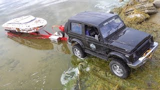 BOAT LAUNCH in a SWAMP POND! | RC ADVENTURES