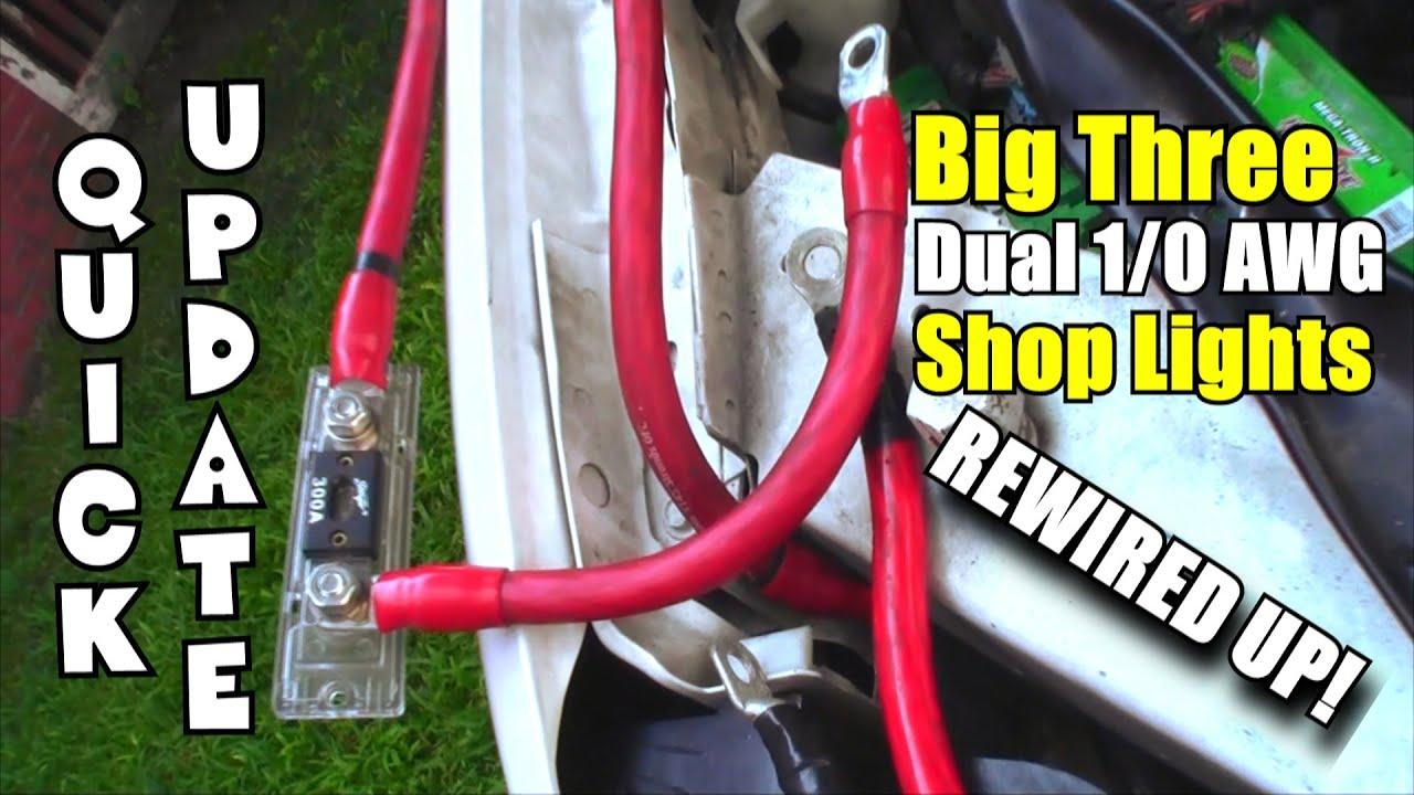 rewired big 3 upgrade 1 0 car audio wiring added three new rh youtube com Car Audio Wiring Supplies Car Audio Wiring Supplies