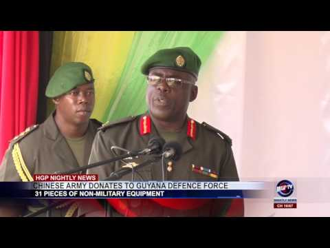 CHINESE ARMY DONATES TO GUYANA DEFENCE FORCE