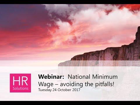 National Minimum Wage - avoiding the pitfalls!