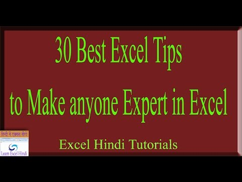 30 Best Excel Tips to Make anyone Expert In Excel Quickly