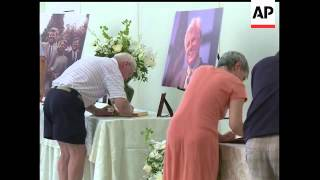 Sen. Edward M. Kennedy's family says after a private funeral his body will travel to Boston to lie i