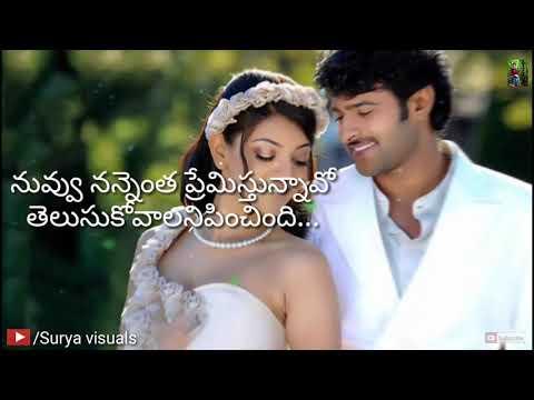 Prabhas Kajal darling dialogues with lyrics WhatsApp status video Surya visuals