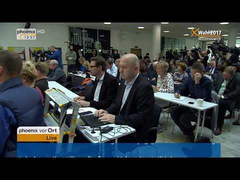 Angela Merkel und Bernd Althusmann zum Wahlausgang in Niedersachsen am 16.10.2017
