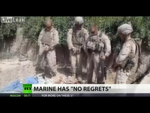 """Hell no,"" -- Marine unremorseful for urinating on dead Afghans"