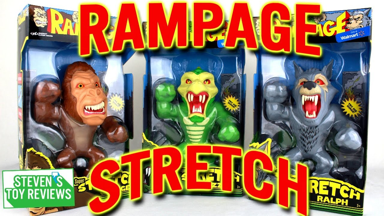 Rampage Stretch Figure Reviews George Lizzie And Ralph Youtube