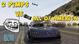 GTA 5 Online - 2 Pimps Vs All Of America