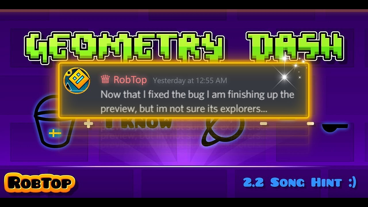 RobTop finishing up the preview.!? New icons! | Geometry Dash 2.2 Release News