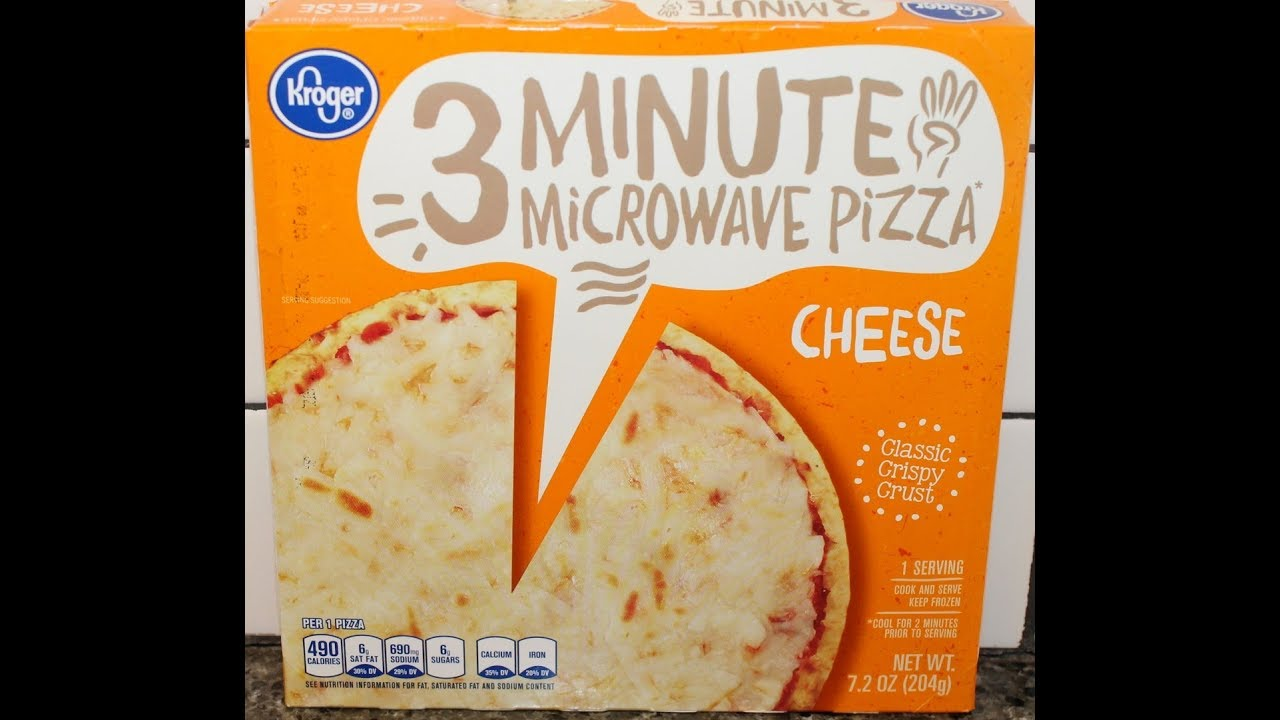 Kroger 3 Minute Microwave Cheese Pizza Review