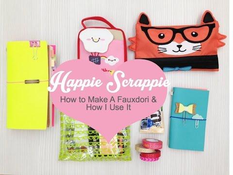How To Make Fauxdori / Midori Traveler's Notebook / Happiedori
