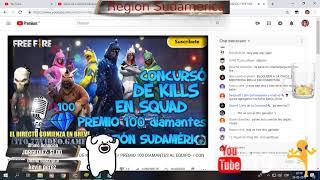 Free Fire Sudamerica, Salas privadas con suscriptores SUB= SALUDOS