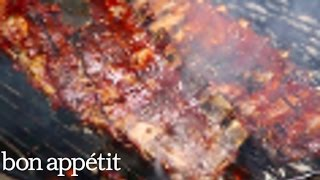 Adam Rapoport's Ribs from The Grilling Book at Smorgasburg