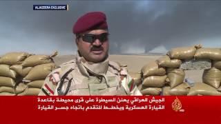 الجيش العراقي يسيطر على قرى بقاعدة القيارة