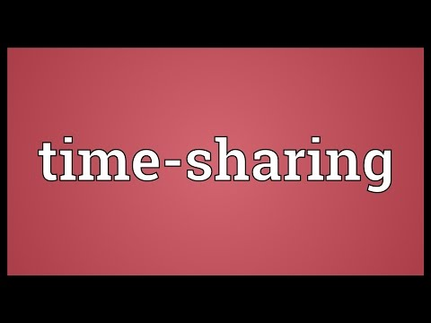 Time-sharing Meaning