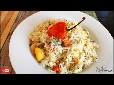 Weekend dish Ackee vegetable rice recipe for vegetarian Caribbean Chef!!