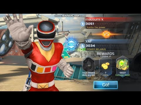 SAVAGE! RED POWER RANGERS IN SPACE DEFEAT ALL ENEMIES   POWER RANGERS LEGACY WARS GAME