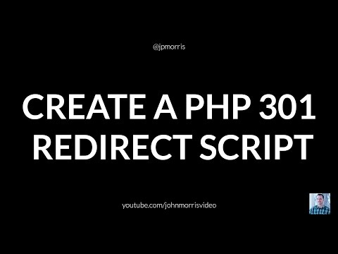 How to Create a PHP 301 Redirect Script