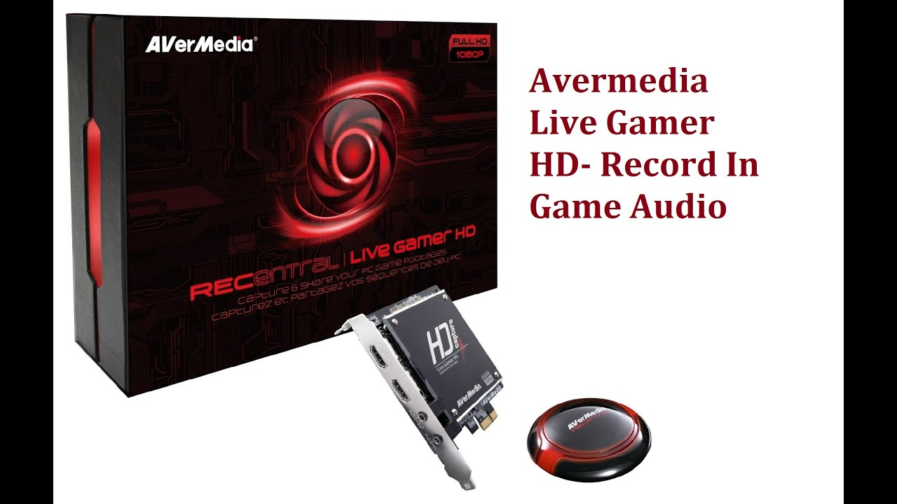Avermedia Live Gamer HD- Record In Game Audio
