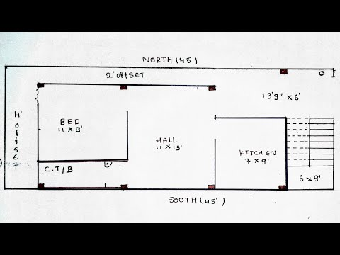 17 × 45 East Face House Plan Map Naksha