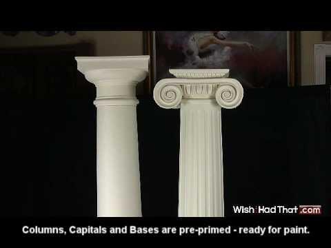 Polyurethane full columns youtube for Polyurethane columns