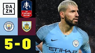 Kevin de Bruyne überragt bei Man-City-Torgala: Man City - Burnley 5:0 | FA-Cup | DAZN Highlights