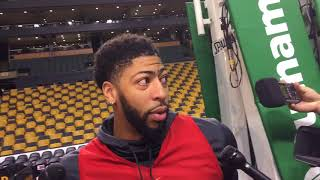 Anthony Davis does not want to discuss Boston Celtics rumors