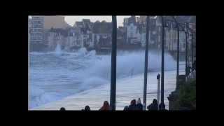 St Malo Le Sillon  Grande Marée  2 février 2014