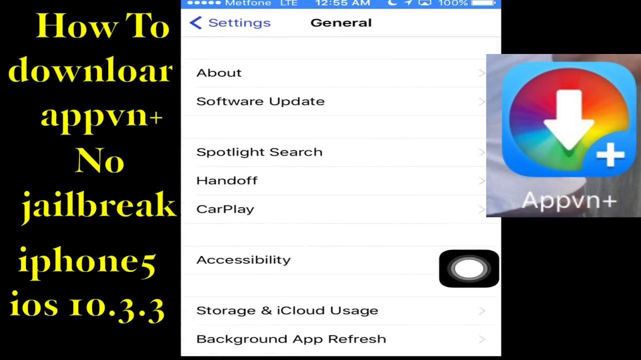 របៀប download App Appvn for ios 10 3 3 No jailbreak