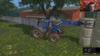 Let's play Farming Simulator 2015 #40 Oprzątek i karmienie krów i świń xD