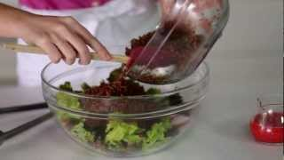 Red Quinoa Salad Recipe With Raspberry Chile Vinaigrette