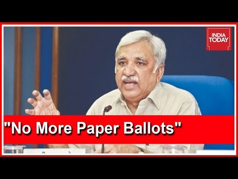 """Not Returning To Era Of Ballot Papers,"" Says Chief Of Election Commission"