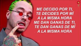 J Balvin   Rojo Letra Lyrics