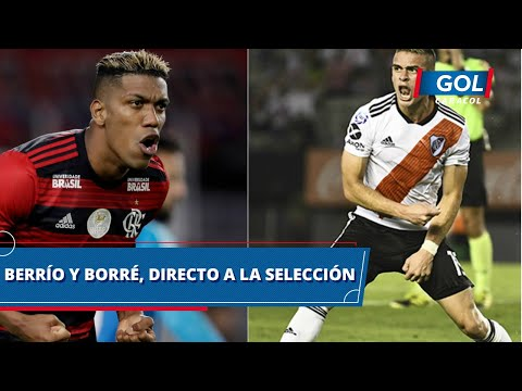 Orlando Berrío y Rafael Santos Borré, las apuestas de Colombia para enfrentar a Brasil y Venezuela