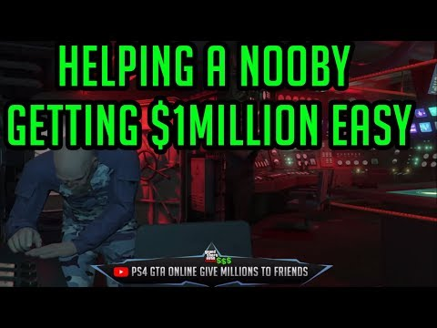 [PS4] Helping A Fresh Start GTA Player Level 13 Getting $1Million EASY in GTA Online 1.43