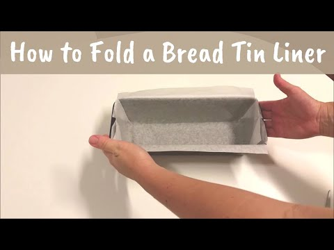 How to fold a bread pan liner with parchment paper or non-stick baking paper