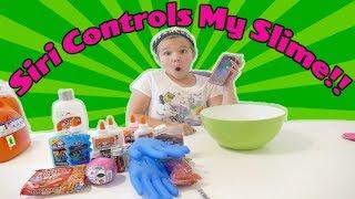 Siri Controls My Slime Ingredients Challenge! Siri Picks My Slime Ingredients