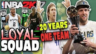 Most loyal nba players wheel! nba 2k17 squad builder